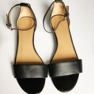 J. Crew Factory I Demi-Wedge Black Sandals